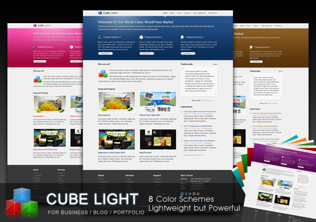 New theme cubelight a business portfolio theme theme junkie below accmission Choice Image