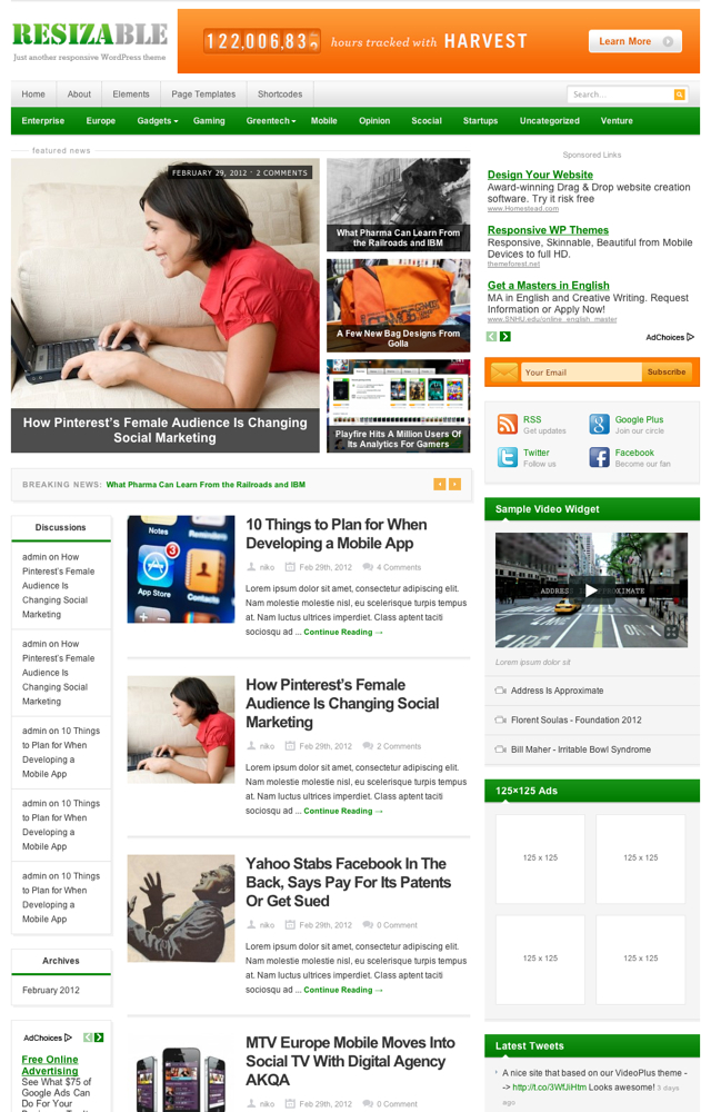 Resizable: Responsive WordPress Theme: ThemeJunkie Get 35% Off