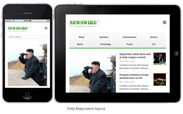 Newswire WordPress Theme