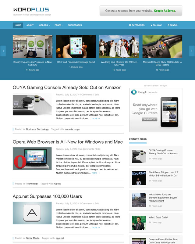 WordPlus WordPress Theme