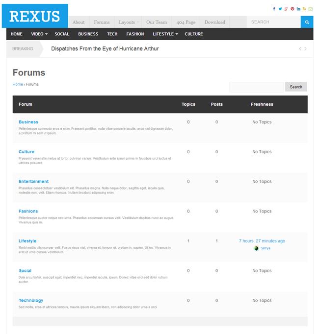 Rexus bbPress