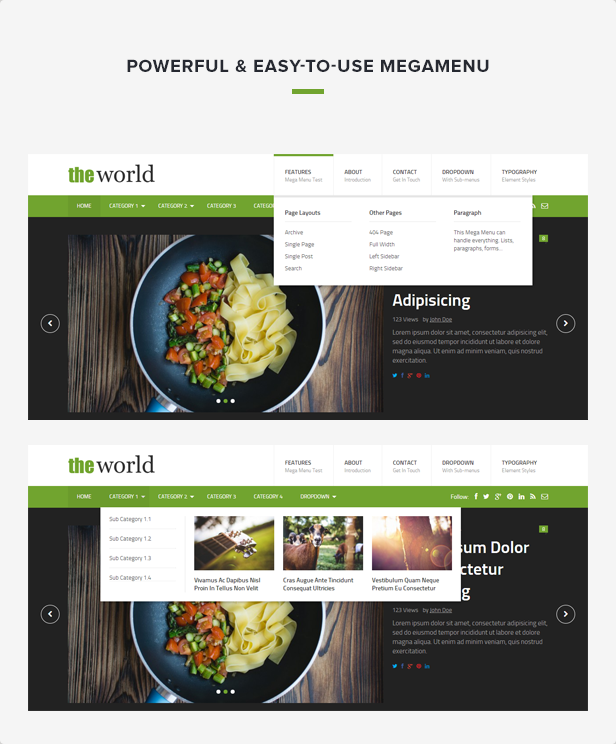 TheWorld - Fresh Magazine Template