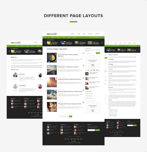 theWorld Layouts Feature