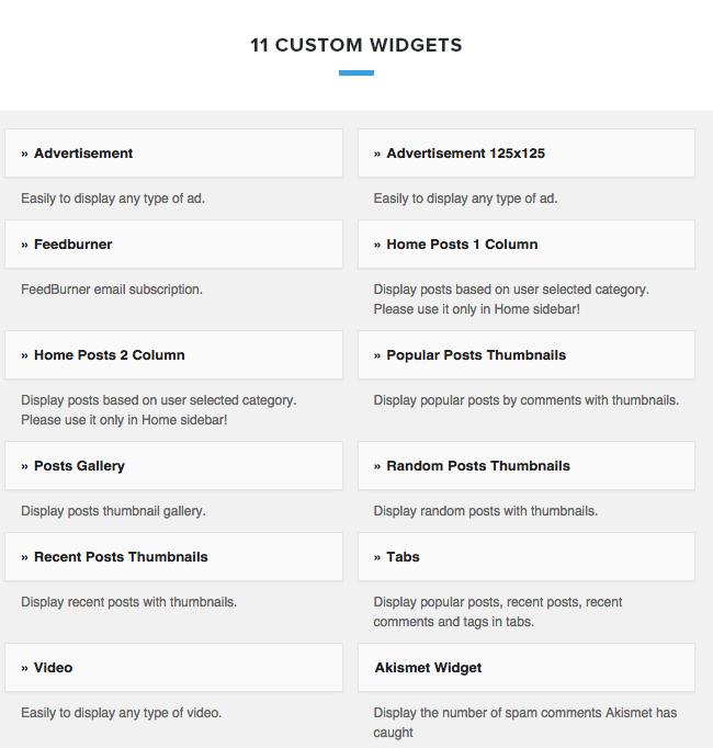 04 widgets - VideoZ WordPress Theme