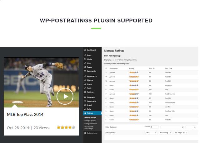 videoz rating - VideoZ WordPress Theme