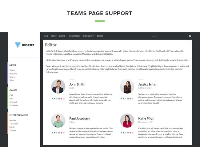 videoz team - VideoZ WordPress Theme