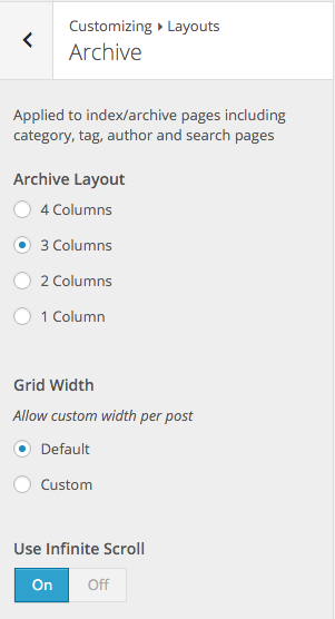 PostBoard Customizer Layouts - Archive