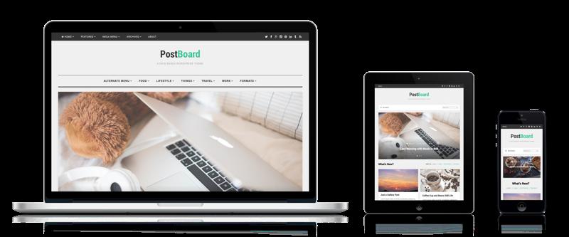 PostBoard - A Dynamic Grid Based WordPress Theme - Theme Junkie