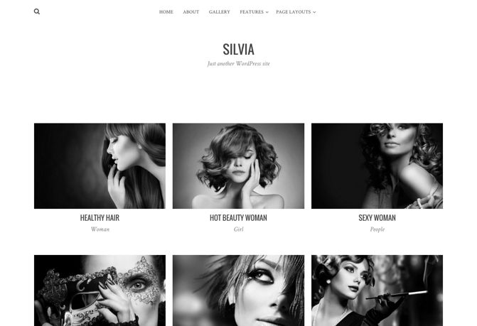 Silvia WordPress theme