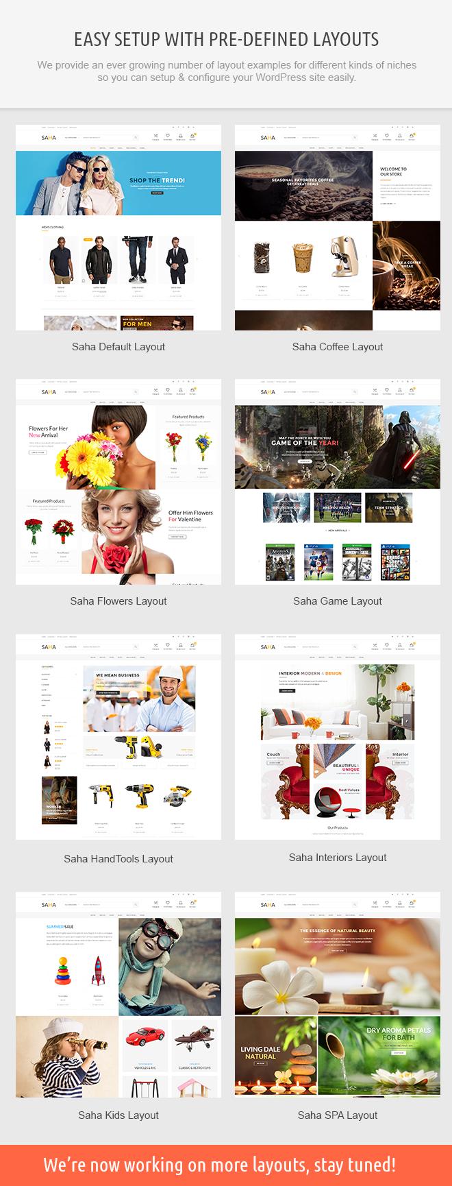 saha demos - Saha WordPress Theme
