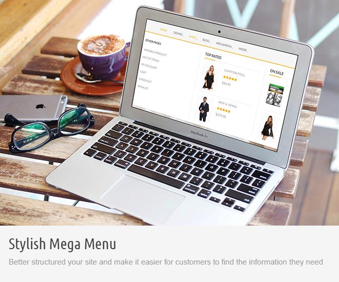 screen megamenu - Saha WordPress Theme