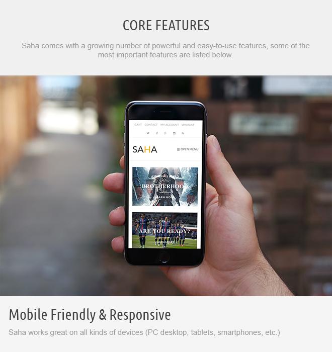 screen responsive - Saha WordPress Theme