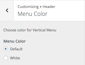 SiteBox Customizer Header Menu