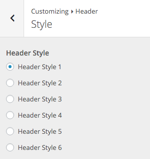 SiteBox Customizer Header Style