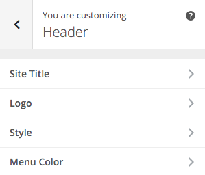 SiteBox Customizer Header
