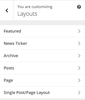 SiteBox Customizer Layouts