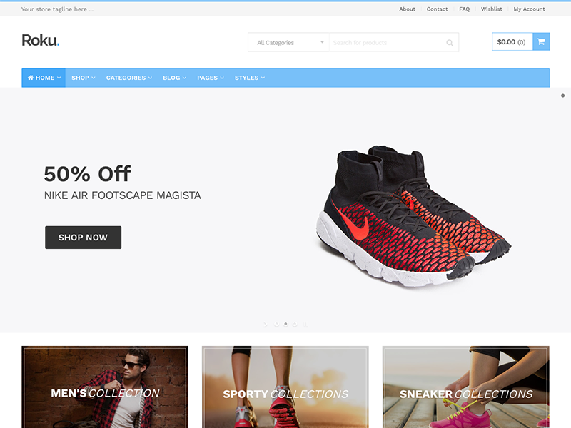 Roku Responsive WordPress eCommerce Theme