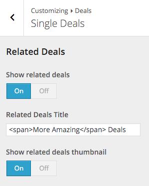 Beginner Customizer Deal Single
