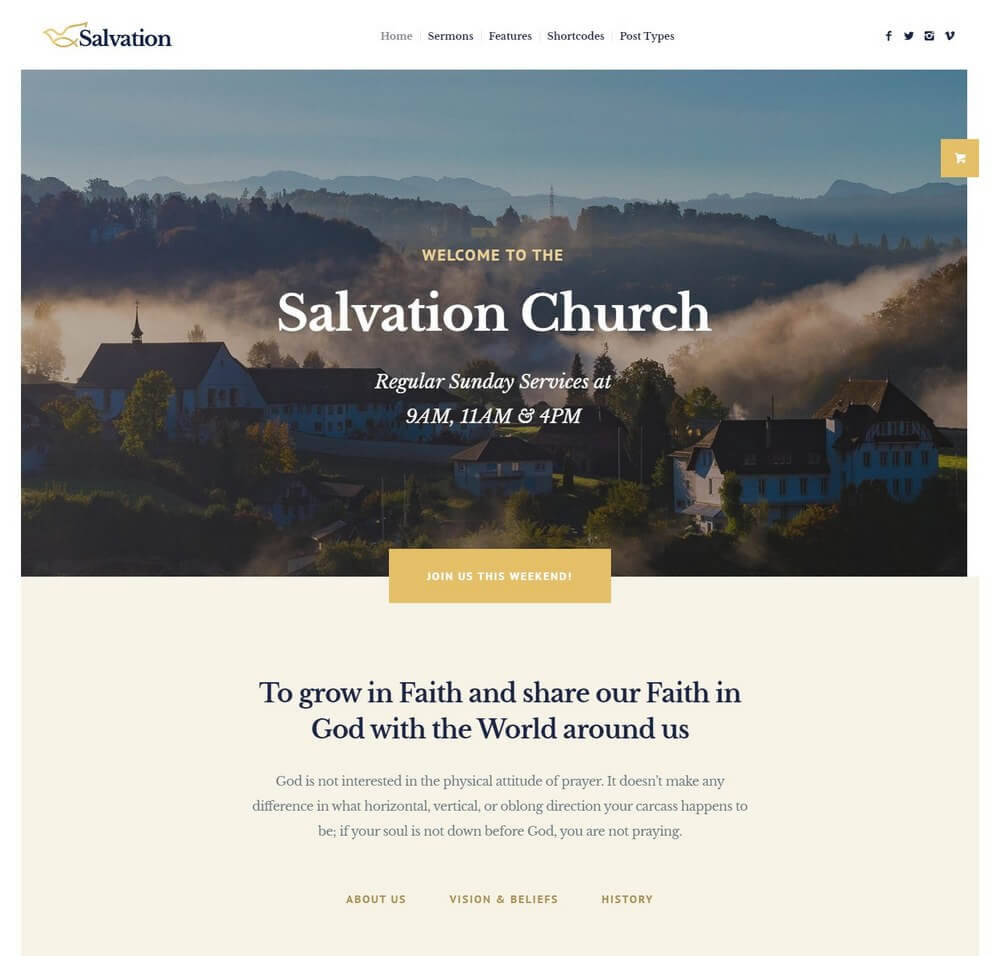 Salvation - Religion & Church WordPress Theme