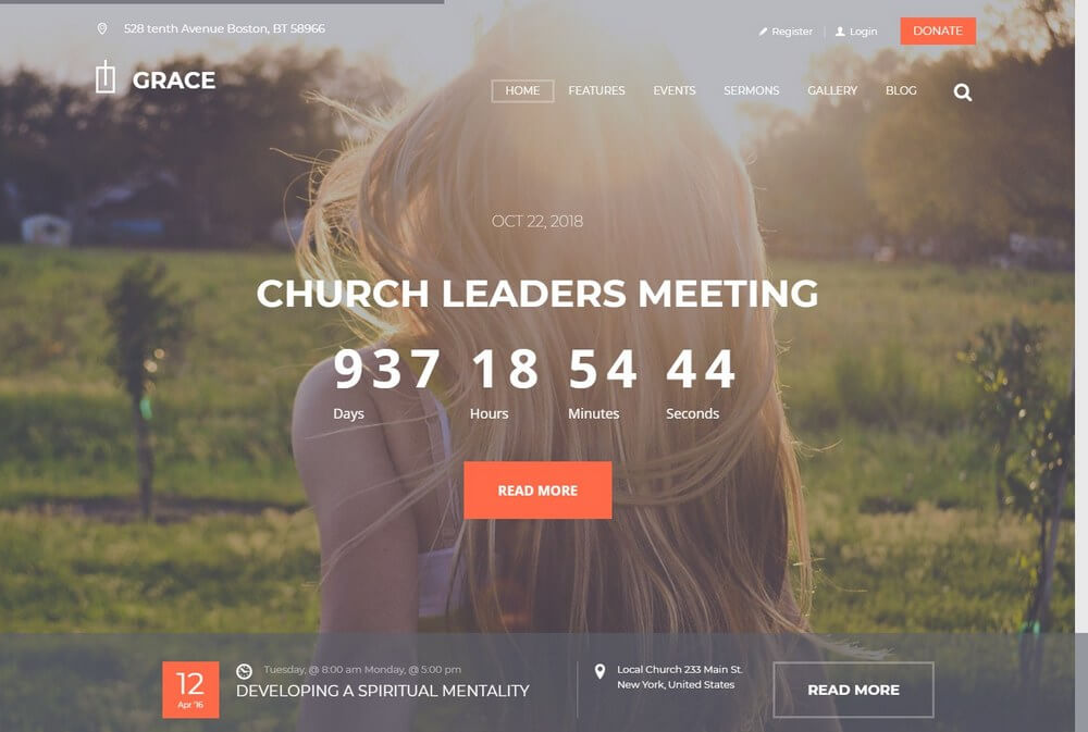 Grace - Modern Religion & Church WordPress Theme