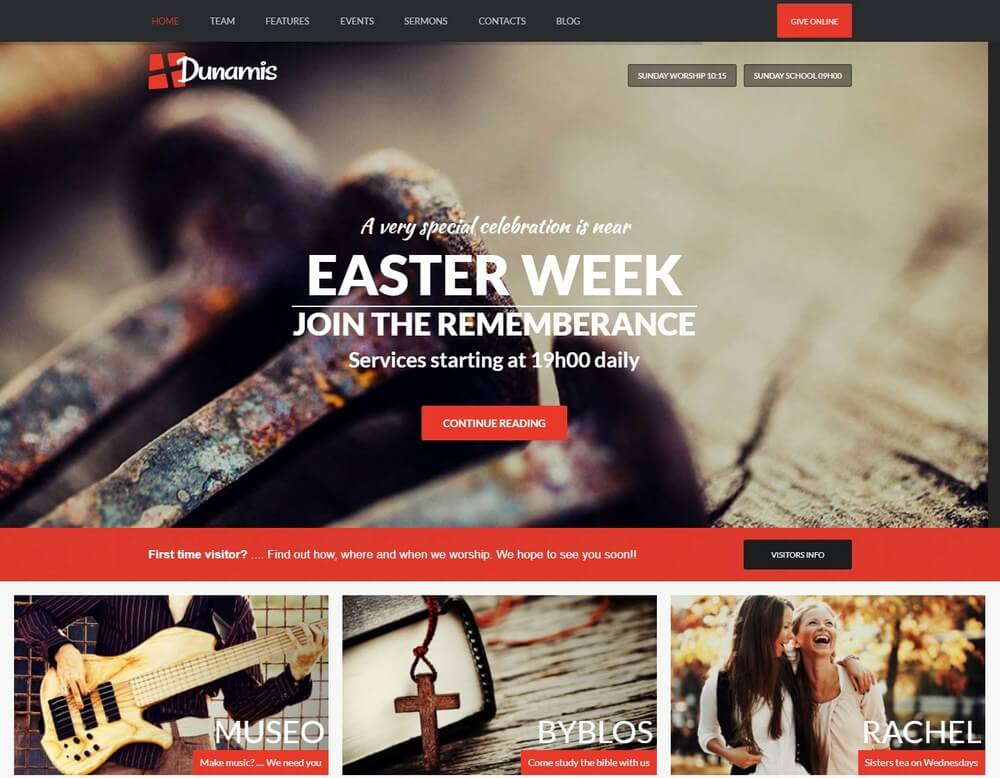 Dunamis - Modern Church WordPress Theme