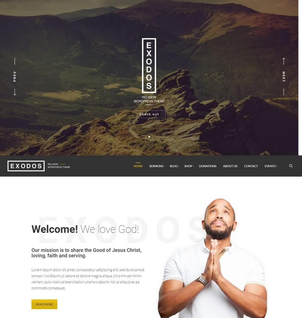 Exodos - Modern Church WordPress Theme