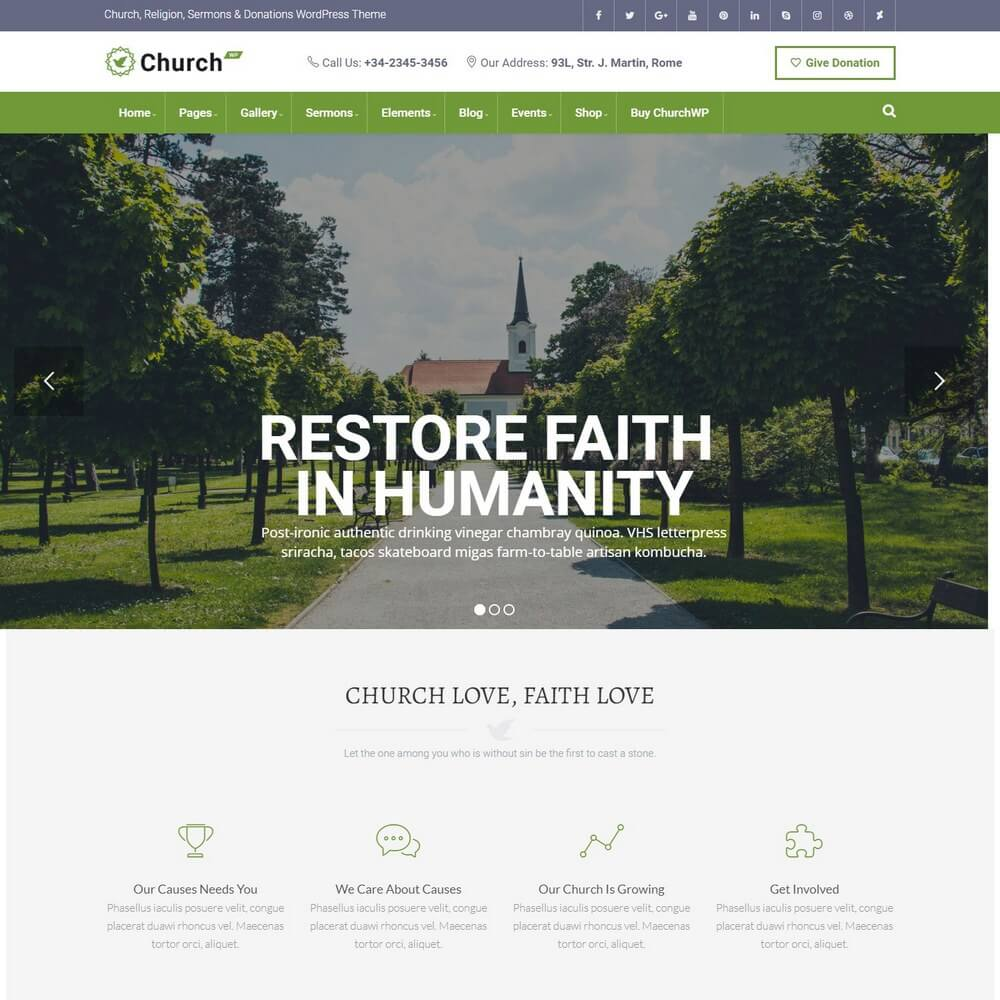 ChurchWP - Contemporary Church WordPress Theme