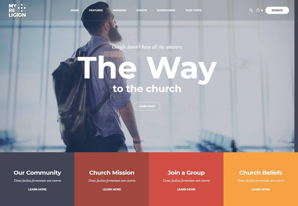 My Religion - Dedicated Church WordPress Theme