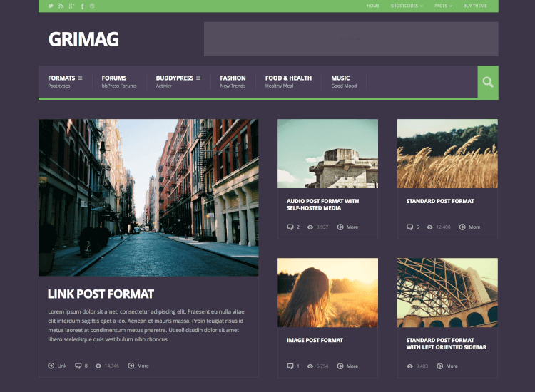 Grimag - Ad Optimized Magazine