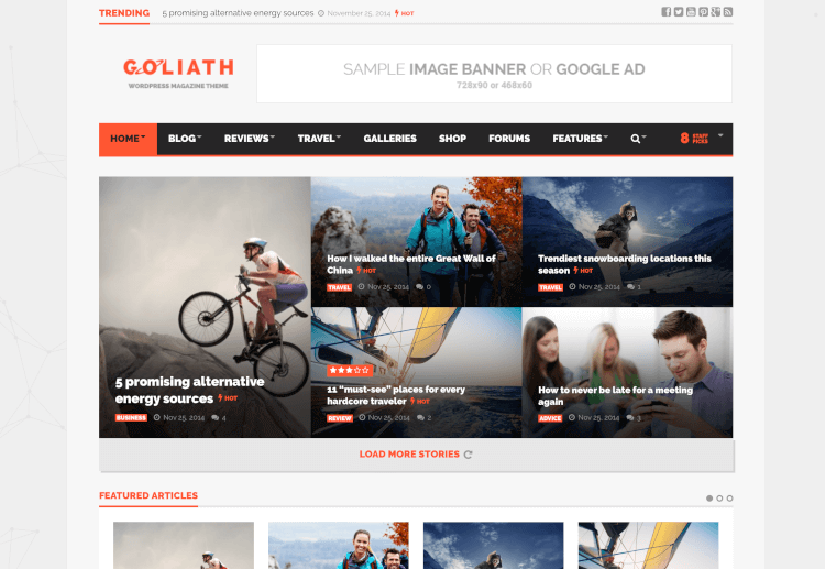 Goliath - Ad Optimized News & Magazine Theme