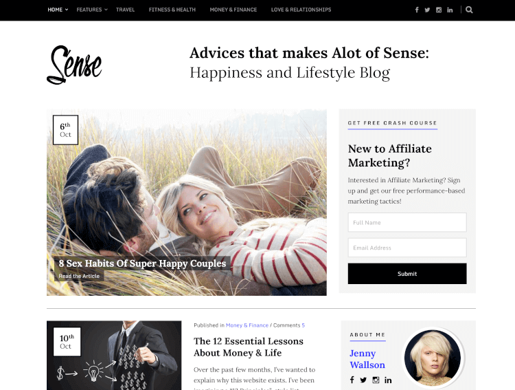 Sense - Authority WordPress Theme