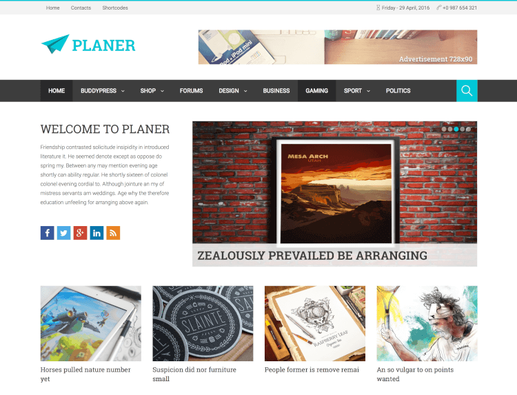 Planer - Responsive WordPress Magazine Theme