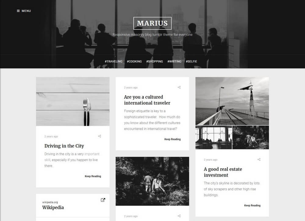 Marius Masonry Blog Black And White Tumblr Theme