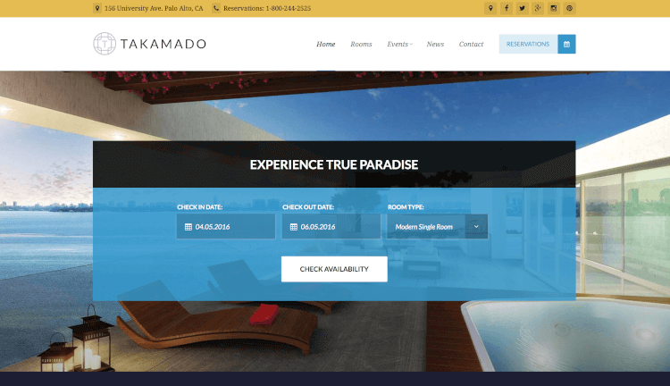 Takamado - Hotel & Resort Theme