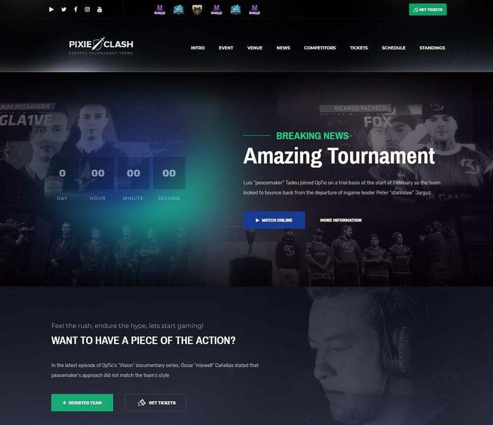 esports landing page