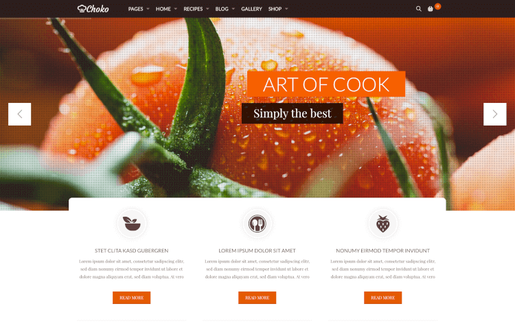 29 best food drink wordpress themes 2018 theme junkie chokofood food restaurant wordpress theme forumfinder Image collections
