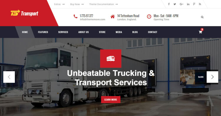 Transport - Trucking, Logistics and Warehousing Theme