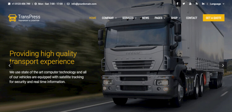 TransPress - Transport, Logistics and Warehouse Theme
