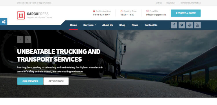 CargoPress - Logistics, Warehouse and Transport Theme