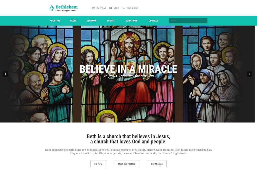 Bethlehem - Modern Church WordPress Theme