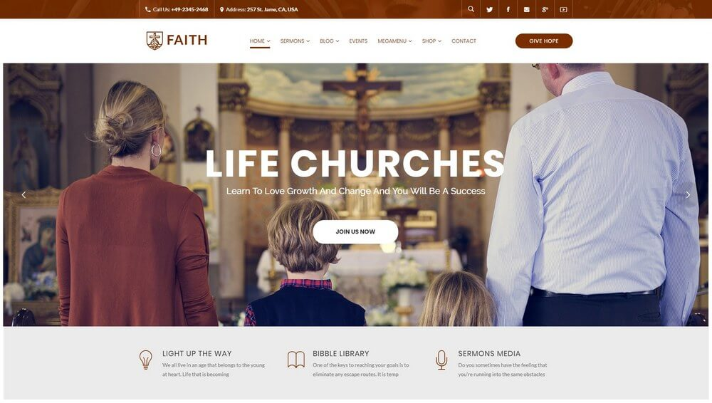 Life Churches - Religious Events & Church WordPress Theme