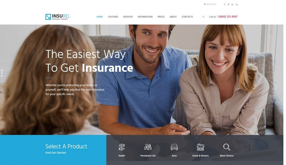 InsuRel - Finance & Insurance WordPress Theme