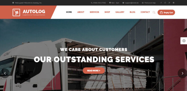 Autolog - Logistic, Warehouse and Transport Theme
