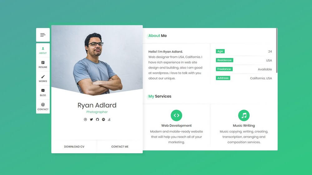 40 Best Cv And Resume Wordpress Themes 2020 Free