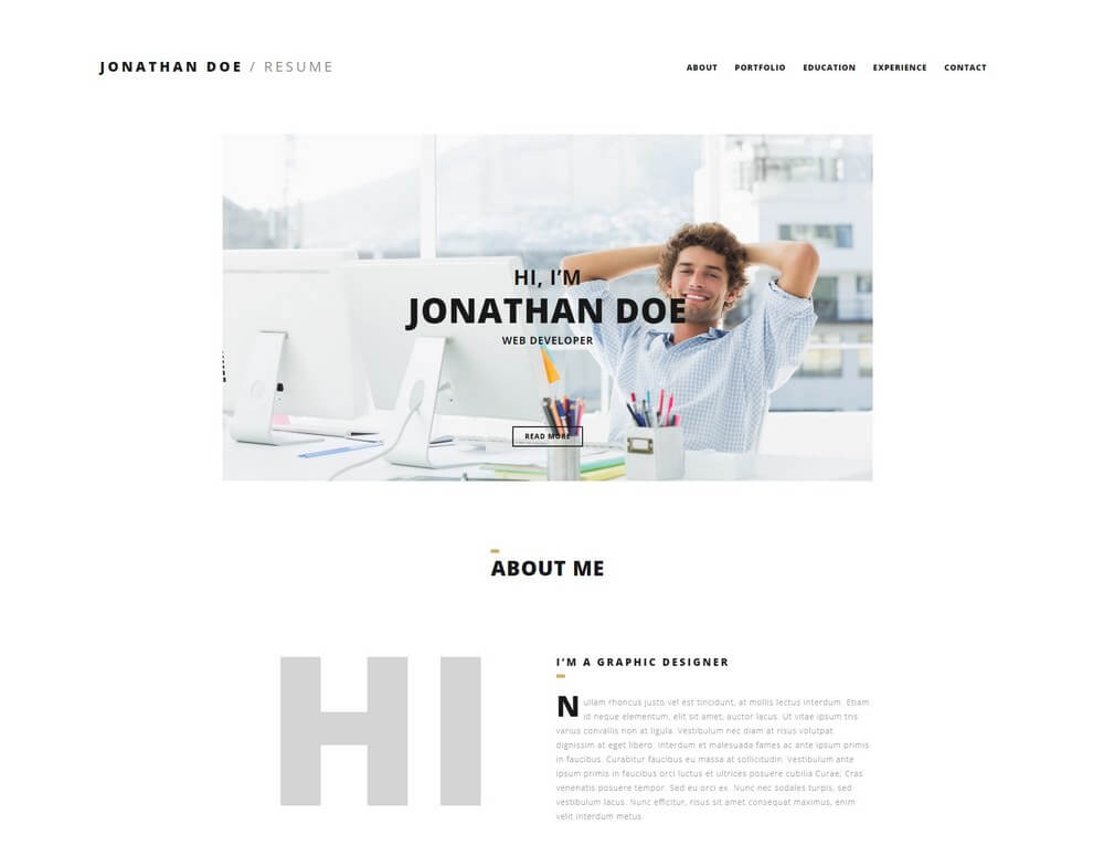 35 Best CV and Resume WordPress Themes 2019  Theme Junkie