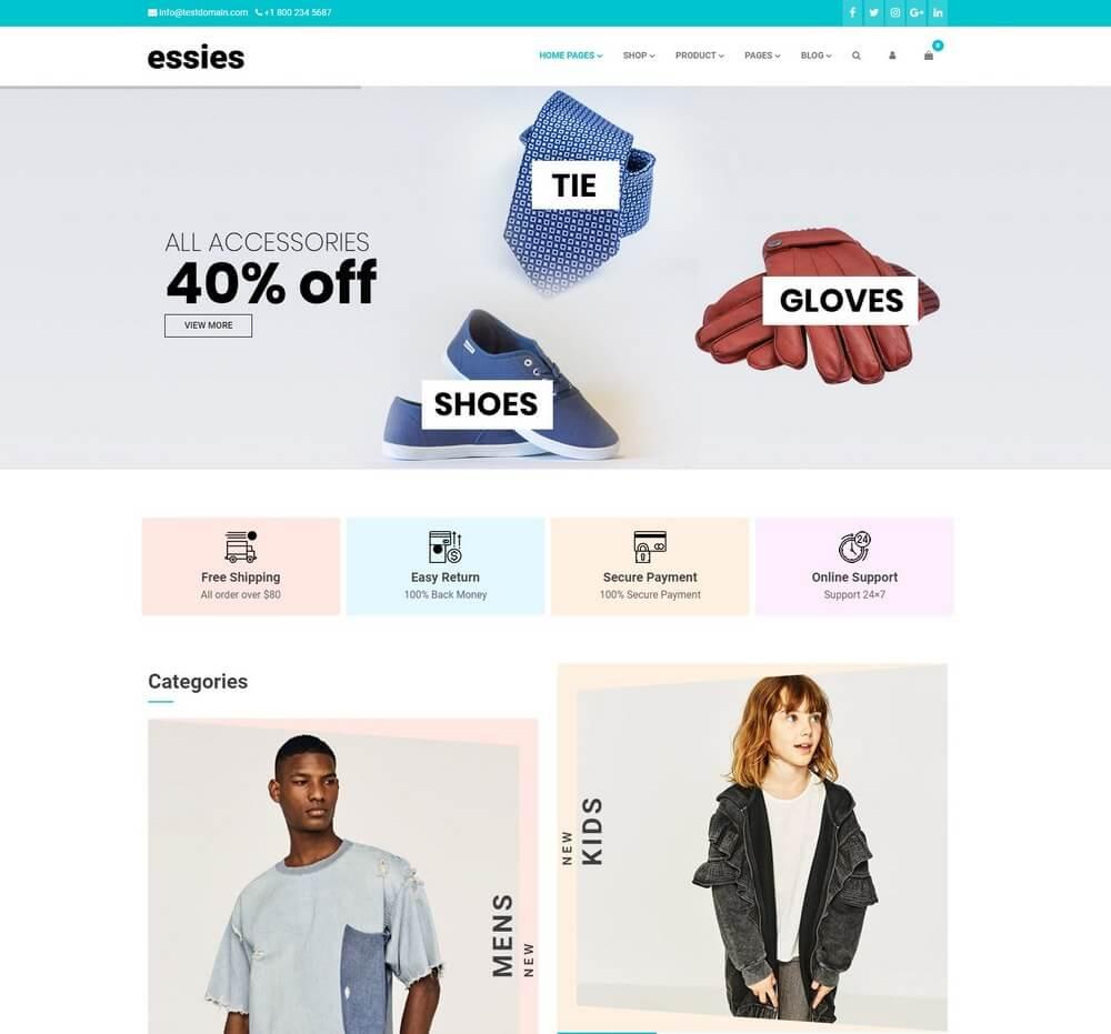 Essies - Modern Fashion WooCommerce Mega Menu WordPress Theme 5a388e9afc062