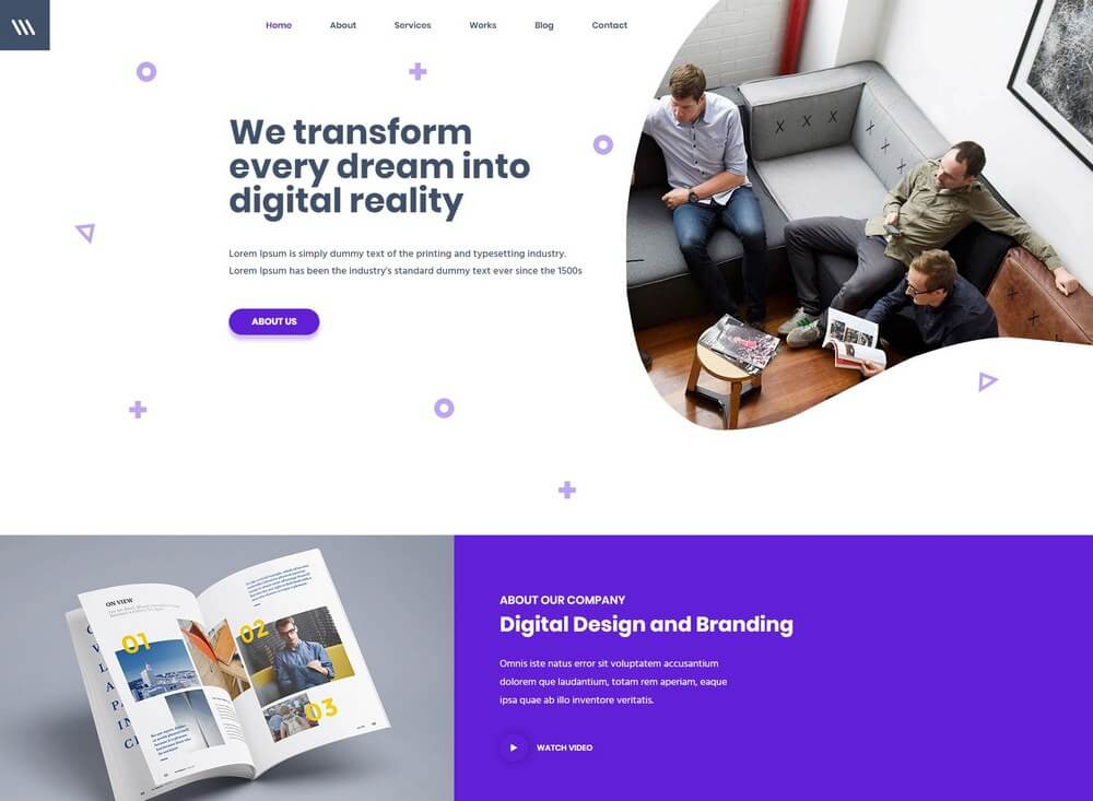 Miex - One-Page Parallax WordPress Landing Page Theme