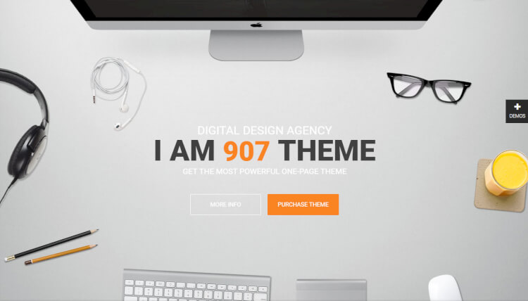 907 - Creative Parallax WordPress Theme
