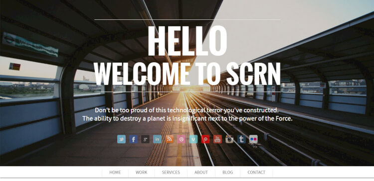 SCRN - Creative Single Page Portfolio Theme