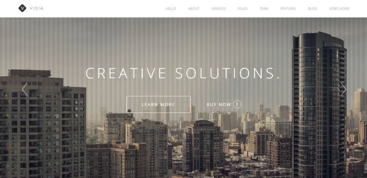Visia - Responsive One Page Creative Theme